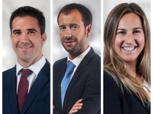 Nuevos asociados y directora de la sede de San Sebastián