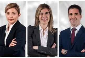 Laya Abós, María Obanos y David Asín, nuevos directores de departamento de ARPA Abogados Consultores